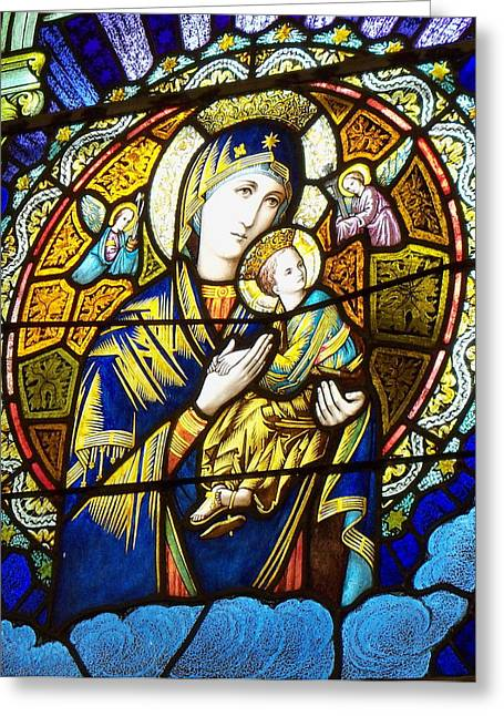 Our Lady Of Perpetual Help Greeting Card by Dana Doyle
