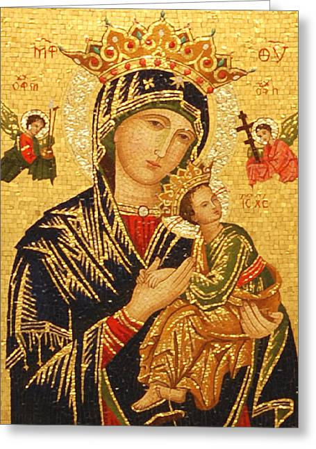 Our Lady Of Perpetual Help  Greeting Card