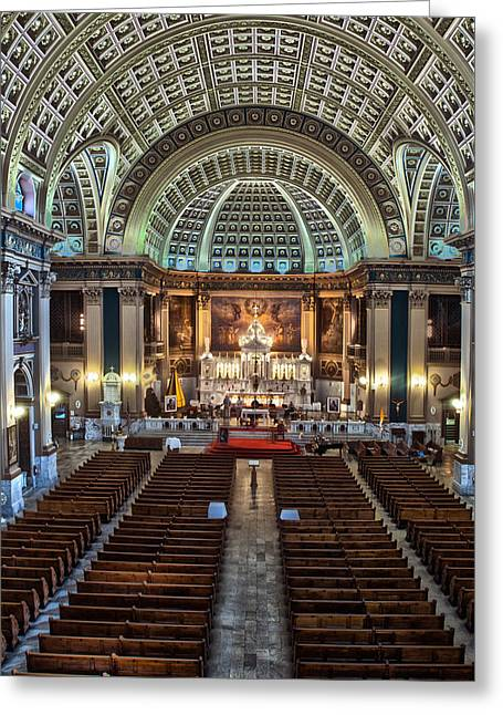 Our Lady Of Sorrows Basilica IIi Greeting Card by Roger Lapinski