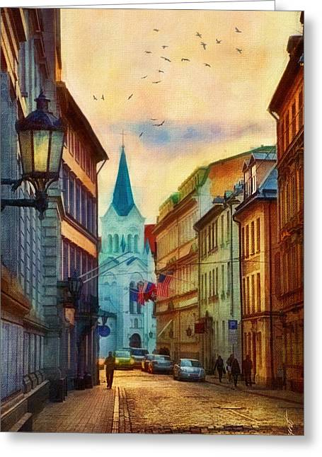 Our Lady Of Sorrows Church Greeting Card by Gynt