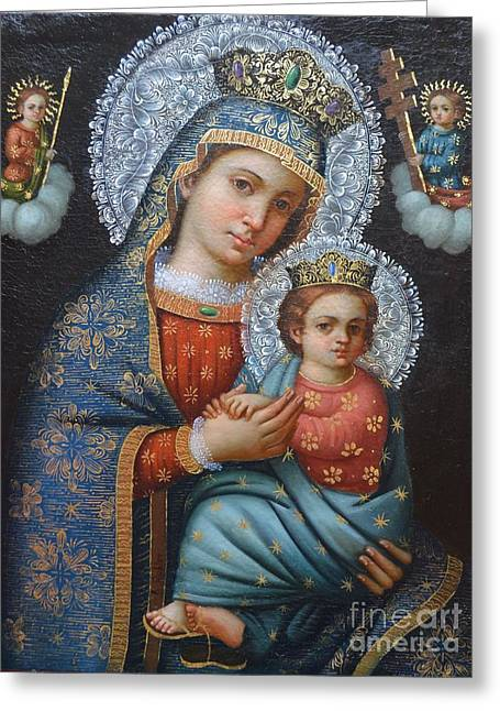 Our Lady Of The Perpetual Help Greeting Card by Jose  Robles