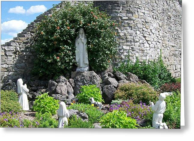 Our Lady Of The Woods Shrine Lll Greeting Card by Michelle Calkins