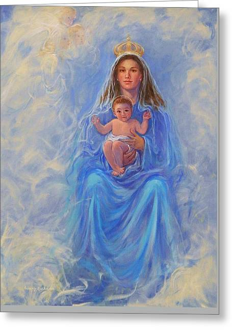 Our Lady Of Victory Greeting Card by Beverly Klucher
