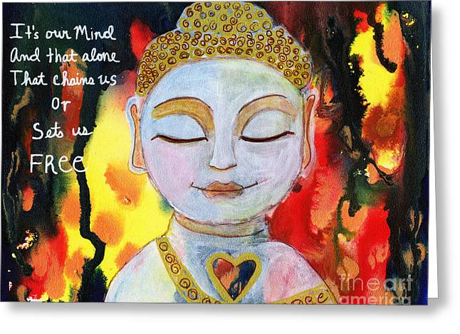 Our Mind Sets Us Free Greeting Card