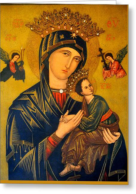 Our Mother Of Perpetual Help Rome Greeting Card by Jay Milo