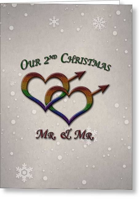 Our Second Christmas Gay Pride Greeting Card