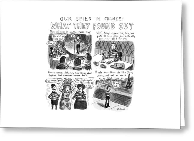 Our Spies In France:  What They Found Greeting Card
