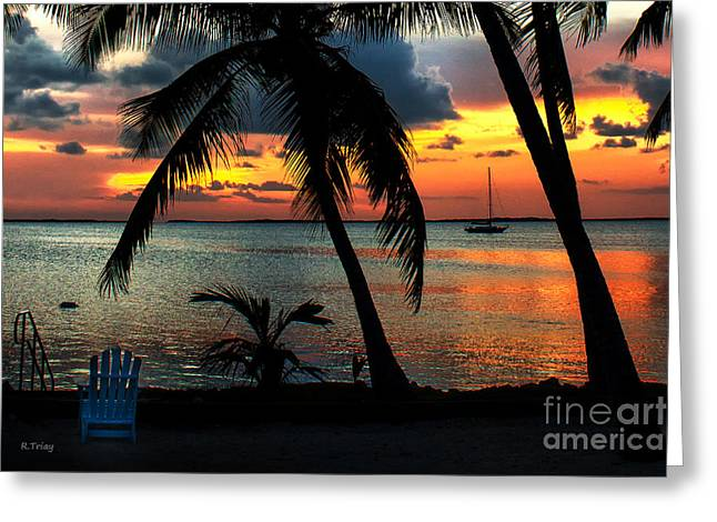 Our Weather Is Spelled- Tropical Greeting Card by Rene Triay Photography
