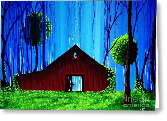 Out Behind The Barn II Greeting Card by Kyle  Brock