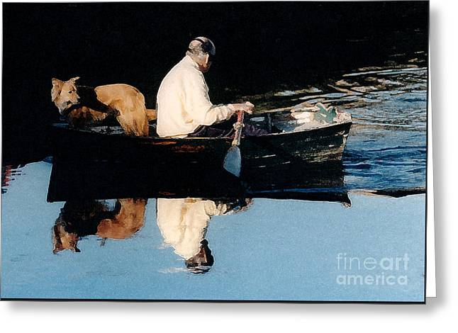 Out For A Boat Ride Greeting Card by Susan Crossman Buscho