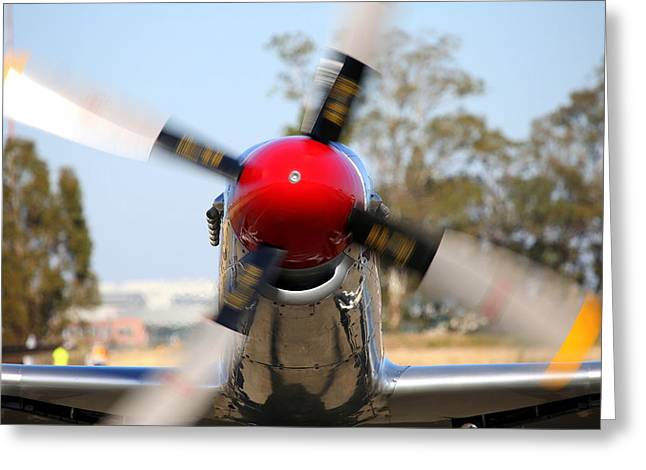 Out For A Spin.  P51d Musting Merlin's Magic N151se Greeting Card