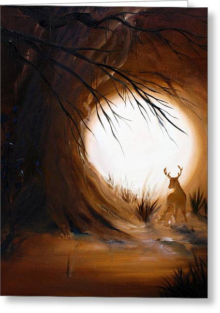 Out For The Hunt Greeting Card by David Kacey