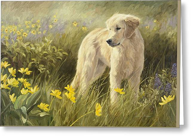 Out In The Field Greeting Card by Lucie Bilodeau