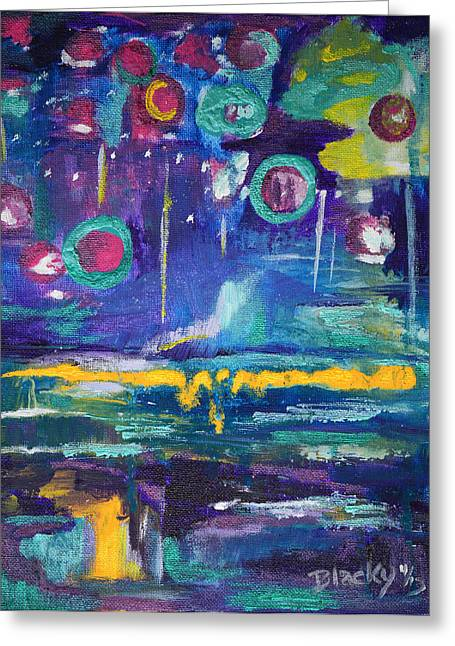 Out In The Universe Greeting Card by Donna Blackhall