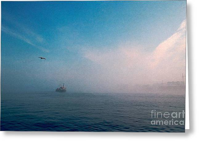Greeting Card featuring the photograph Out Morning At Sea  by Evgeniy Lankin
