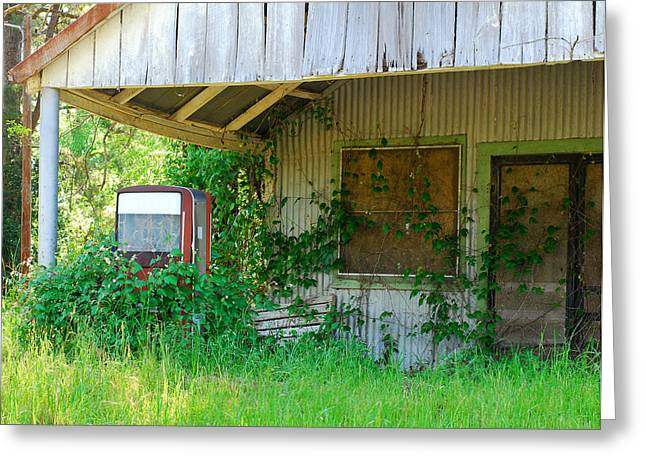 Out Of Business Greeting Card by Connie Fox