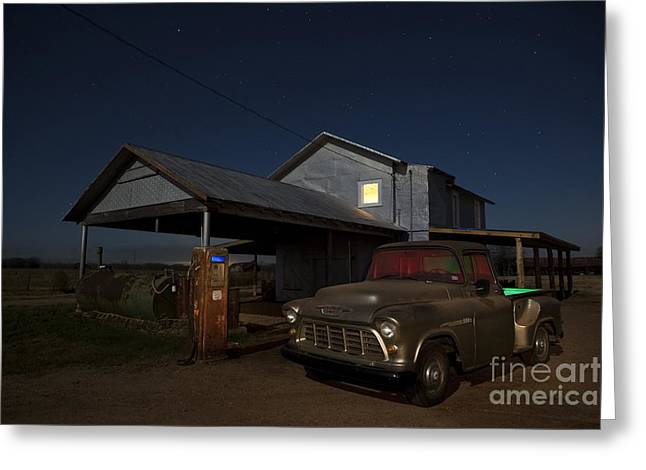 Out Of Gas Greeting Card by Keith Kapple