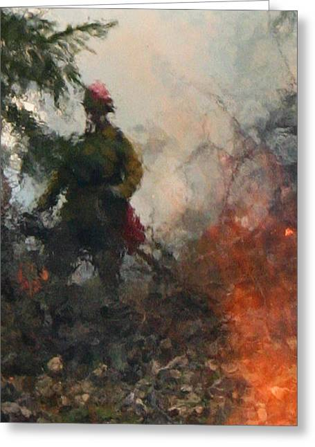 Greeting Card featuring the photograph Out Of The Flames by Marie Neder