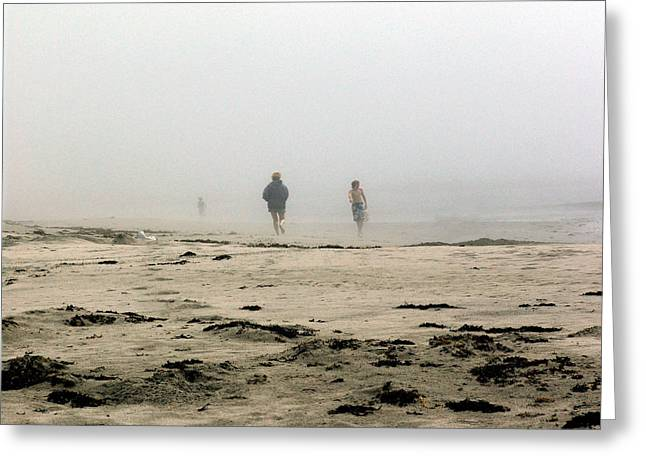 Out Of The Fog Greeting Card by George Cousins