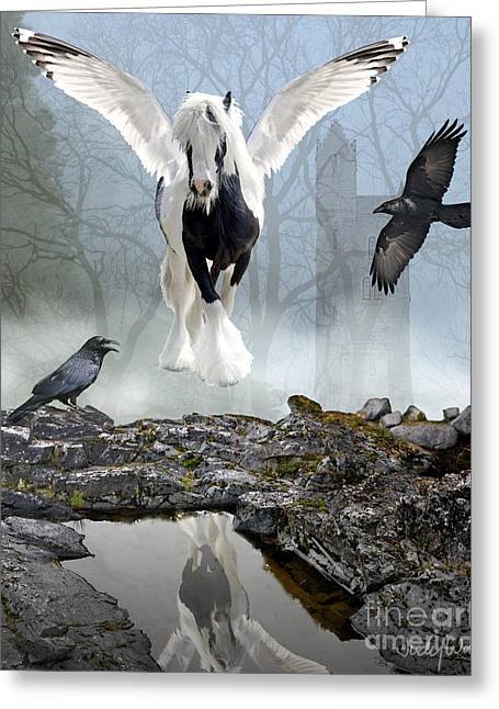 Out Of The Mist Greeting Card by Judy Wood