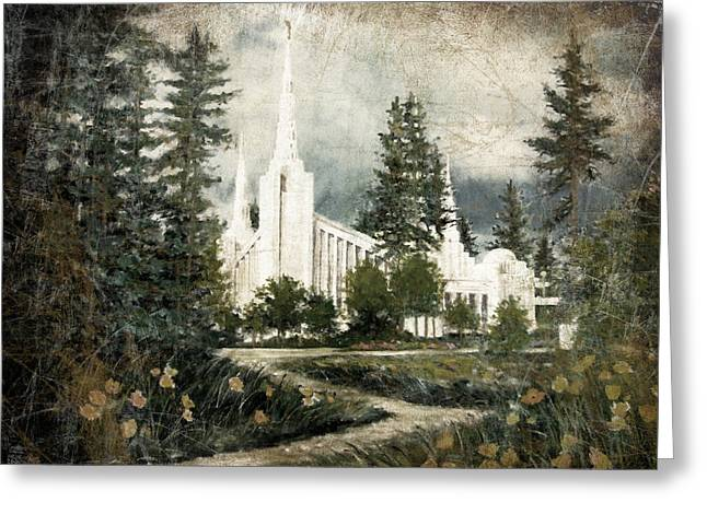 Out Of The Wilderness Portland Oregon Temple Greeting Card