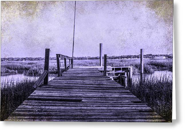 Out On The Pier  Greeting Card by Steven  Taylor