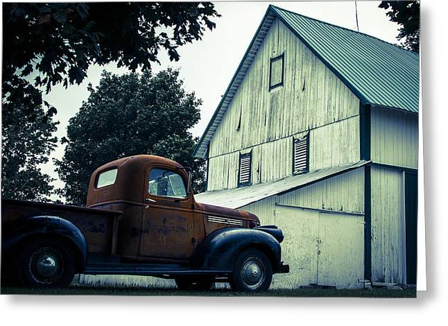 Out Past The County Line  Greeting Card by Off The Beaten Path Photography - Andrew Alexander