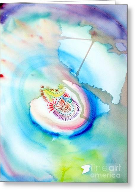 Deep Blue Greeting Card by Mukta Gupta