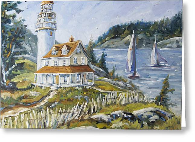 Out To Sea By Prankearts Greeting Card by Richard T Pranke