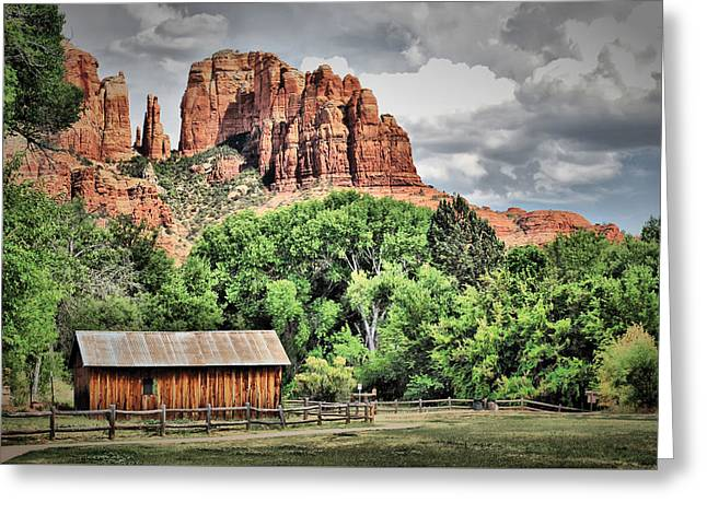 Out West - Sedona Arizona Landscape Greeting Card