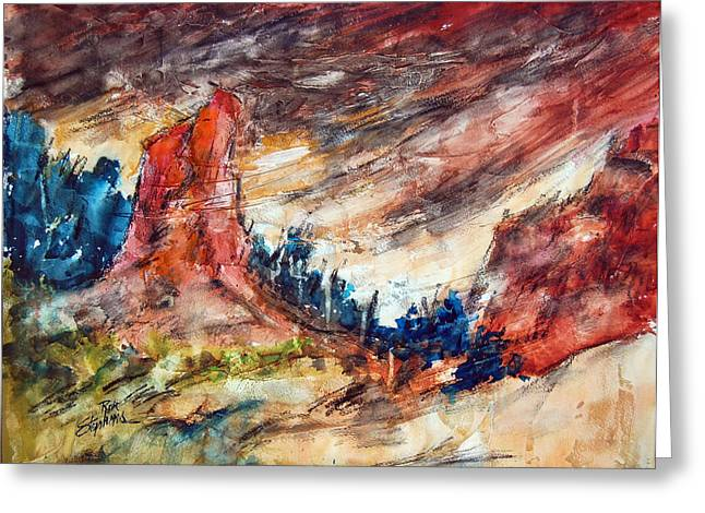 Out West Greeting Card by Ron Stephens