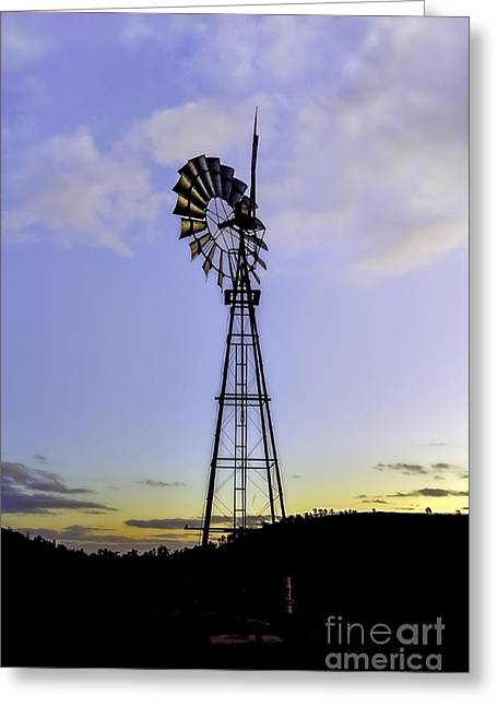 Outback Windmill Greeting Card
