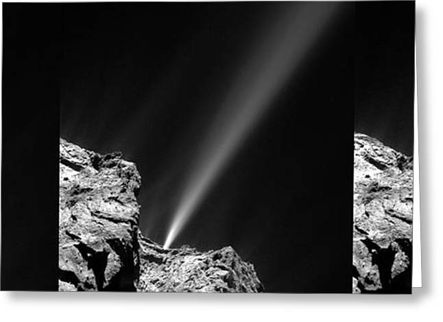 Outburst From Comet Churyumov-gerasimenko Greeting Card by European Space Agency/rosetta/mps For Osiris Team Mps/upd/lam/iaa/sso/inta/upm/dasp/ida