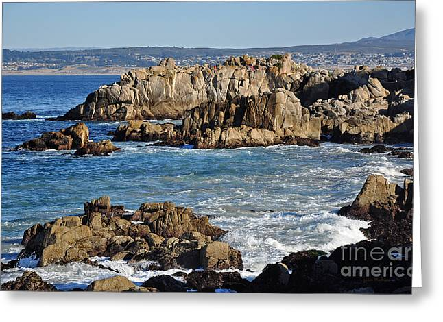 Outcroppings At Monterey Bay Greeting Card