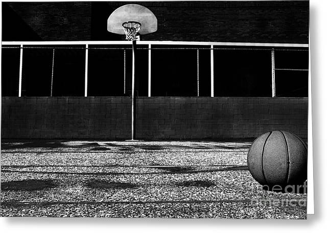 Outdoor Basketball Court Greeting Card