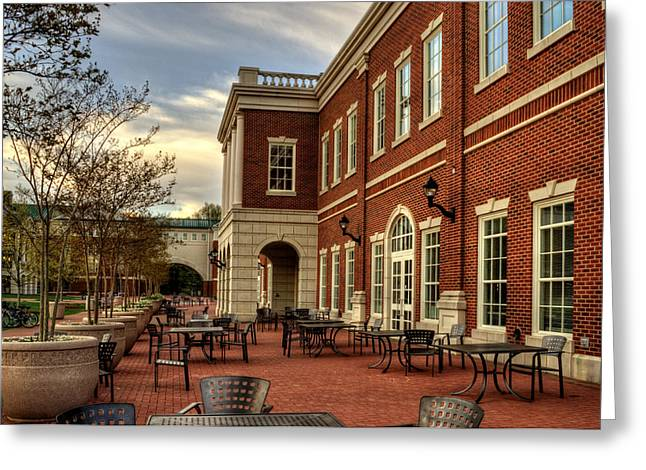 Outdoor Dining At The Courtyard Dining Hall Of Wcu Greeting Card