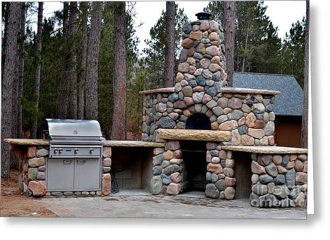 Outdoor Kitchens Greeting Card by The Stone Age