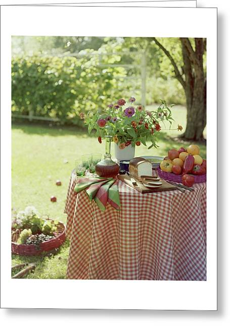 Outdoor Lunch In The Shade Of A Tree Greeting Card