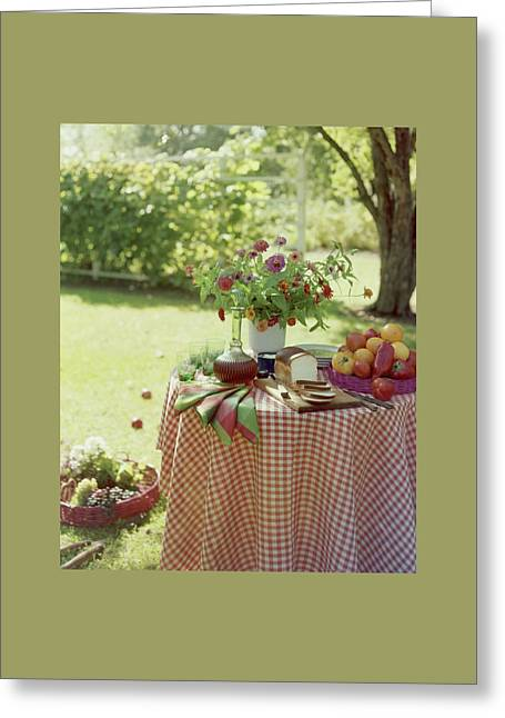 Outdoor Lunch In The Shade Of A Tree Greeting Card by Wiliam Grigsby