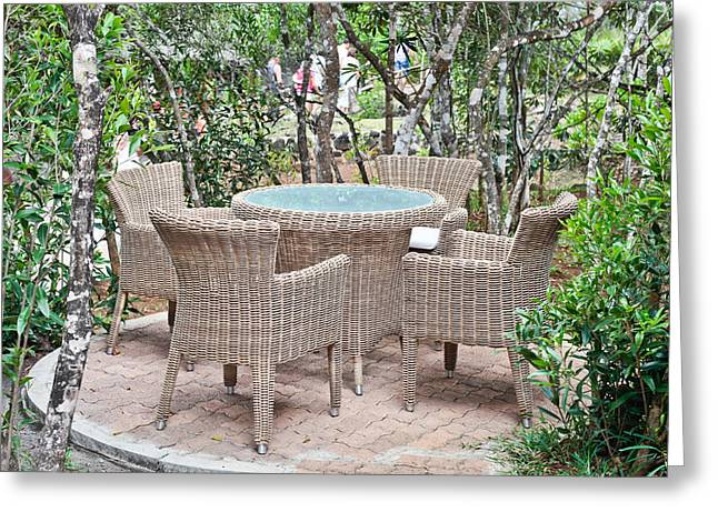 Outdoor Seating Greeting Card