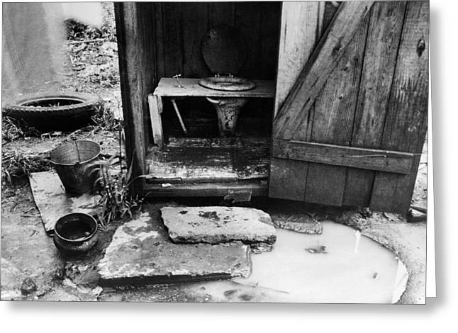 Outdoor Toilet, 1935 Greeting Card by Granger