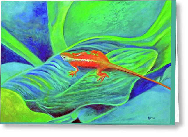 Outer Banks Gecko Greeting Card