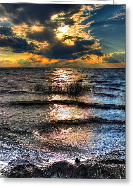 Outer Banks - Radical Sunset On Pamlico Greeting Card