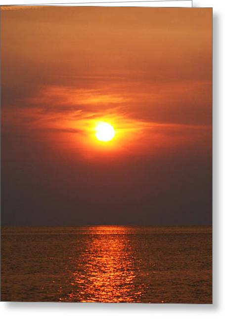 Greeting Card featuring the photograph Outer Banks Sunset by Tony Cooper