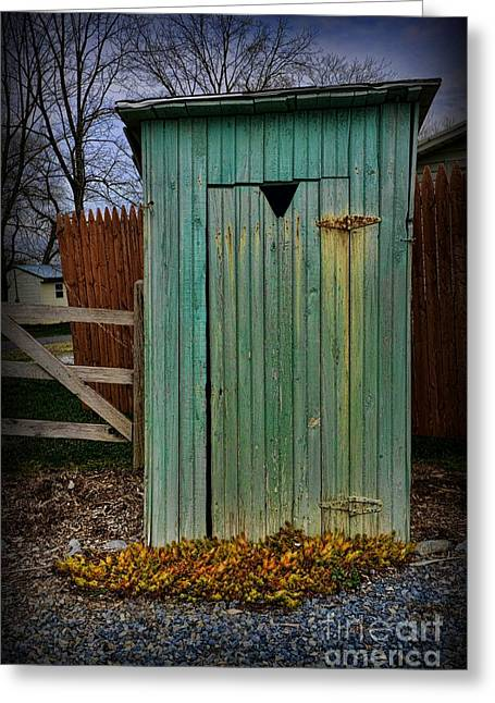 Outhouse - 6 Greeting Card by Paul Ward