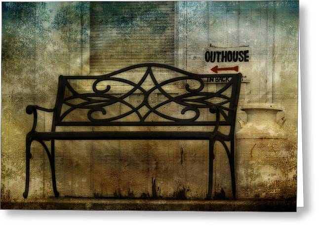 Outhouse-in Back Greeting Card