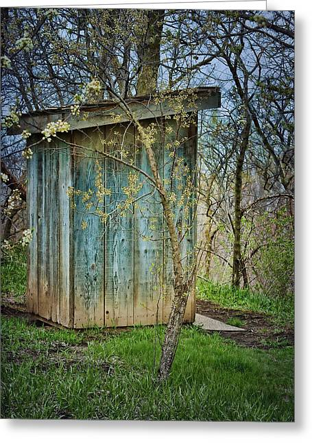 Outhouse In Spring Greeting Card by Nikolyn McDonald