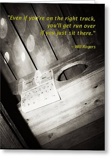 Outhouse Inspiration Will Rogers 1 Greeting Card