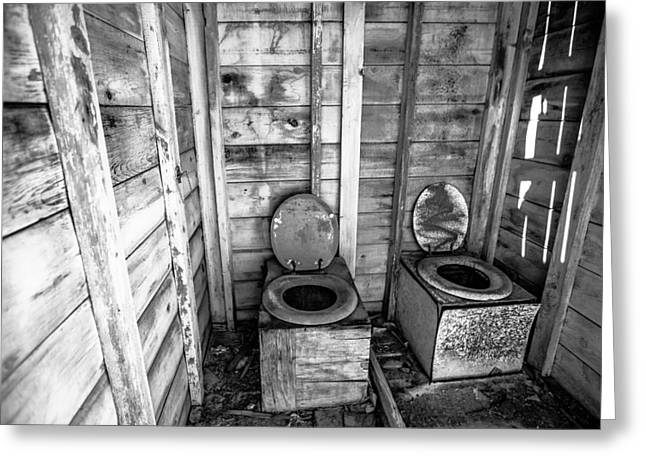 Outhouse Greeting Card by Robert  Aycock