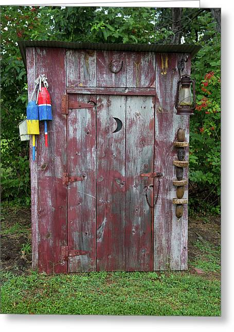 Outhouse Shed In A Garden, Marion Greeting Card